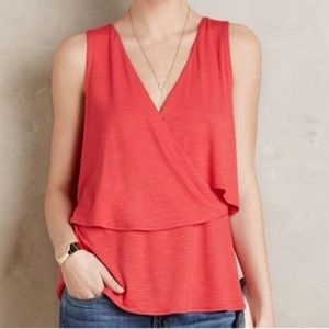 Anthropologie Deletta Valma Pink Layered Tank Top